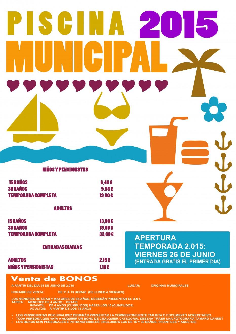 PISCINA MUNICIPAL Temporada Verano 2015