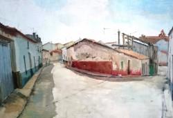 Tercer premio Nicolás Megia en el XVII Concurso Nacional de Pintura Rápida Nicolas megia de Fuente de Cantos - Obra de Francisco Abel Villarino