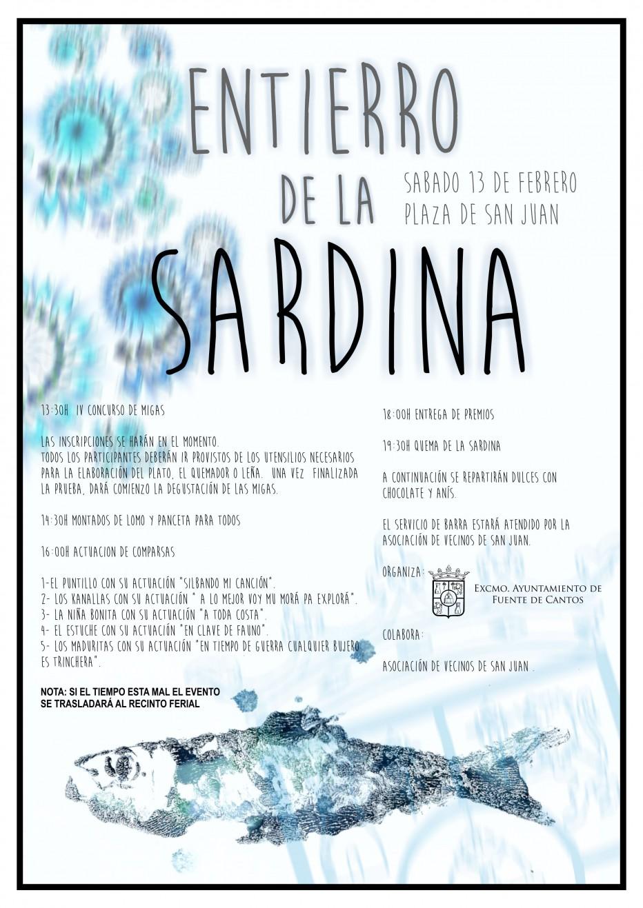 Programa del día 13 de Febrero. Entierro de la Sardina