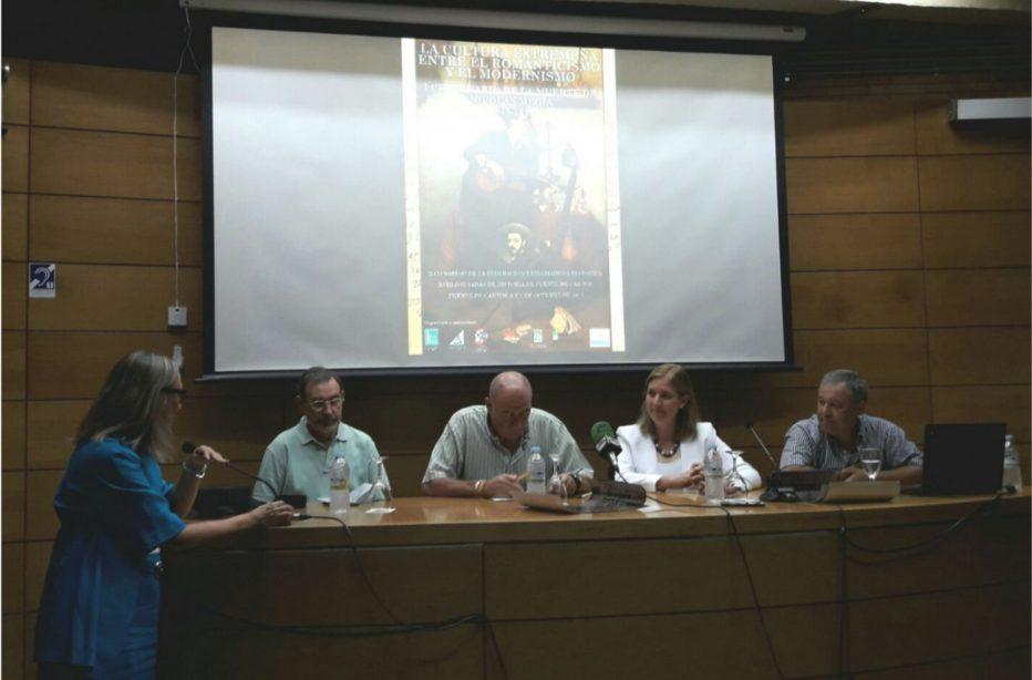 PRESENTACIÓN DEL II CONGRESO DE LA FEDERACIÓN EXTREMADURA HISTÓRICA SOBRE LA CULTURA EXTREMEÑA ENTRE EL ROMANTICISMO Y EL  MODERNISMO