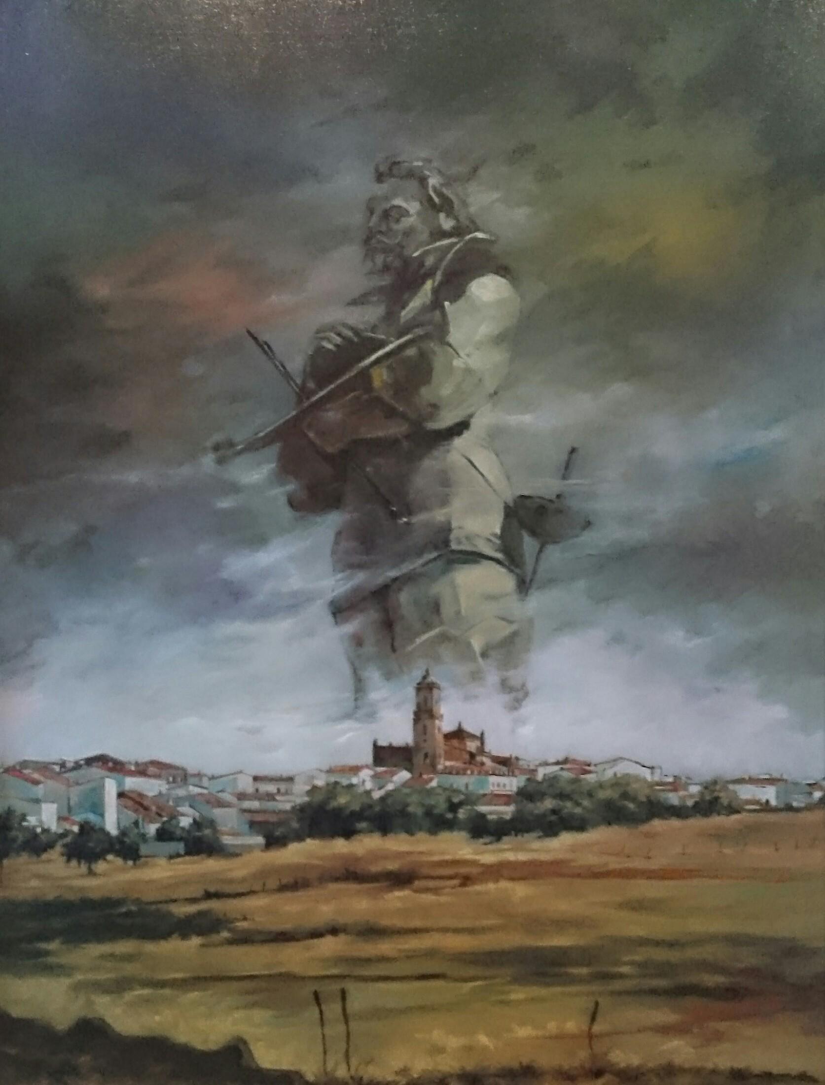 Cuadro de Jose Serano tematica Zurbarán