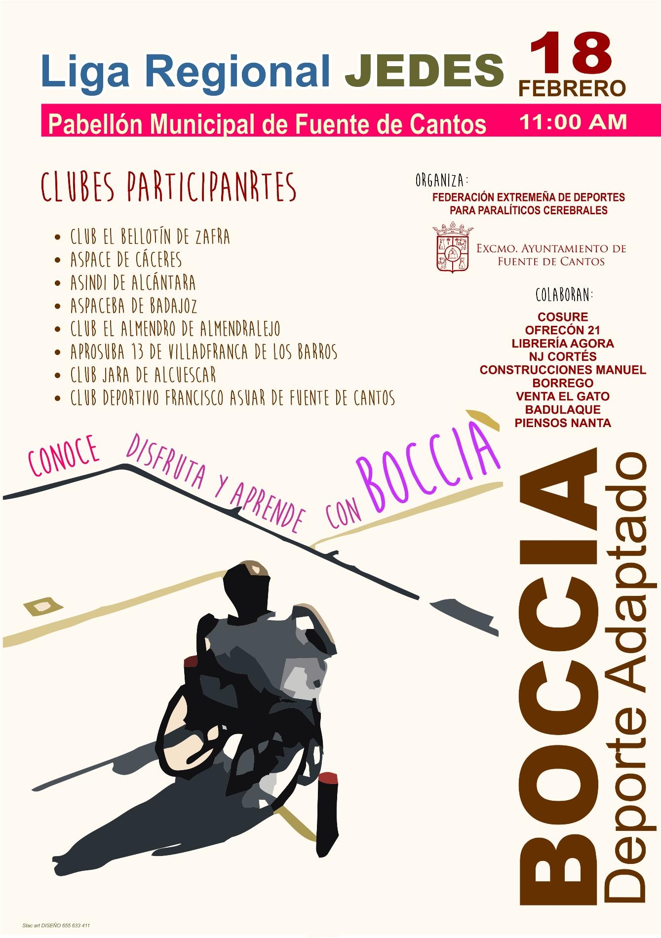 CARTEL BOCCIA deporte adaptado