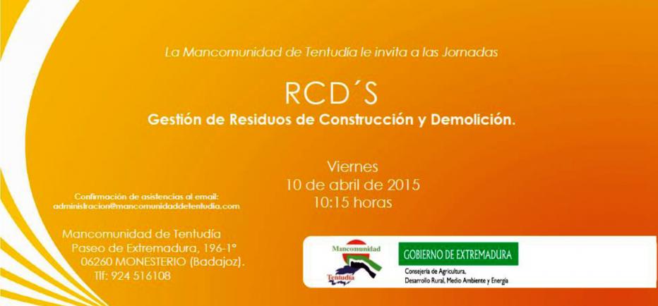 Jornadas RCD´S Gestión de Resíduos de Construcción y Demolición