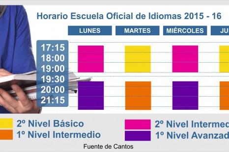 Horario escuela oficial de idiomas 2015 2016
