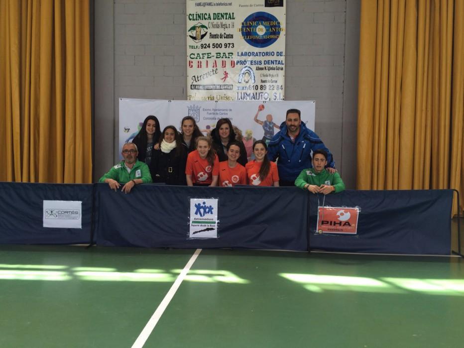 Los mejores jugadores de Extremadura en categoría infantil y cadete Masculino y Femenino. Tenis de Mesa.
