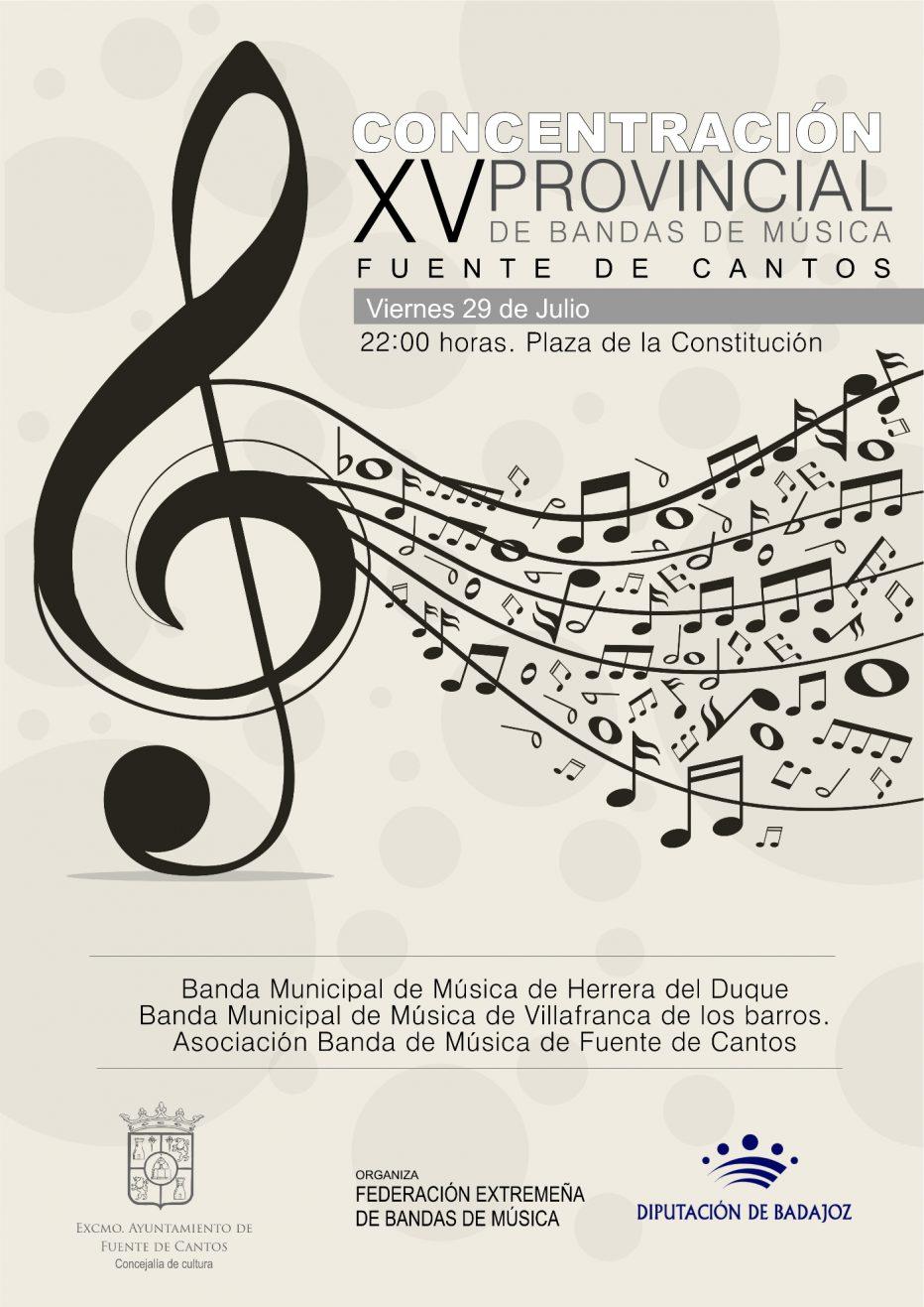 XV Concentración Provincial de Bandas de Música (29 – JULIO )