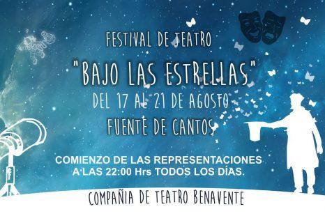 El día 17 de Agosto «Teatro Bajo las Estrellas», a las 10 de la noche