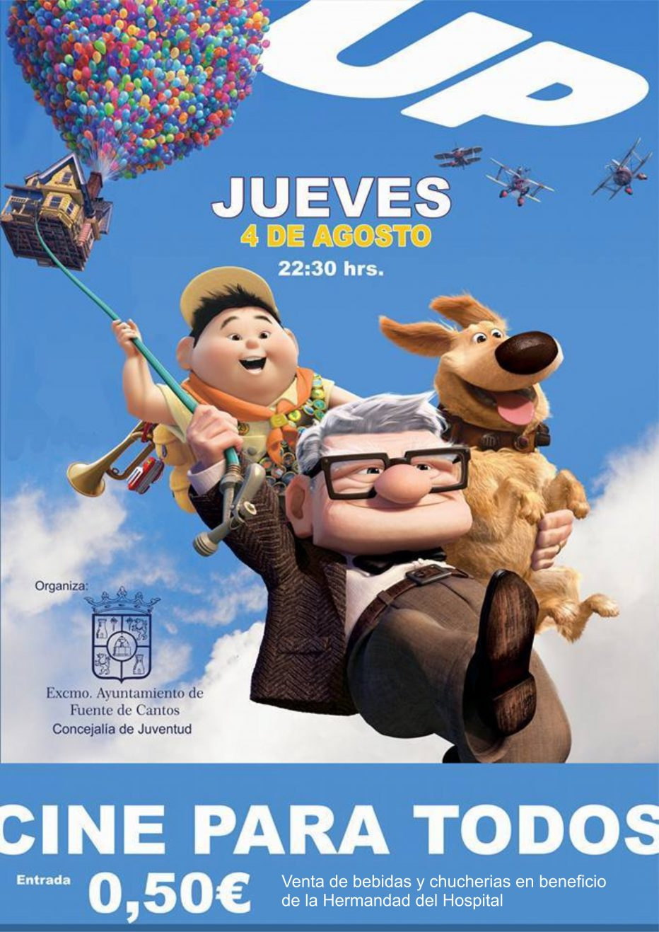 #CINEPARATODOS «UP» 4 de Agosto