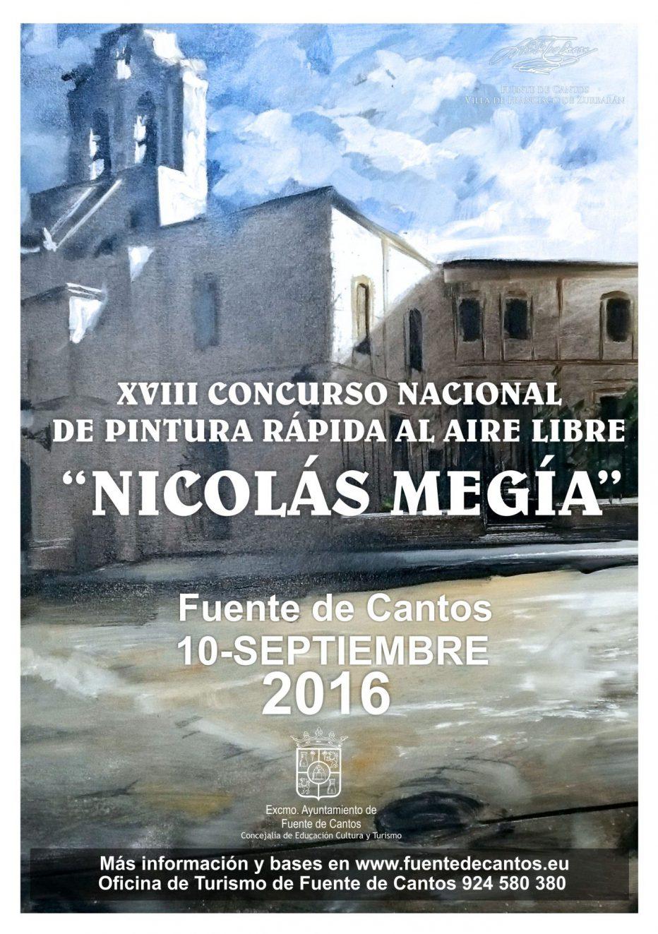 XVIII CONCURSO NACIONAL DE PINTURA RÁPIDA AL AIRE LIBRE «NICOLÁS MEGÍA»