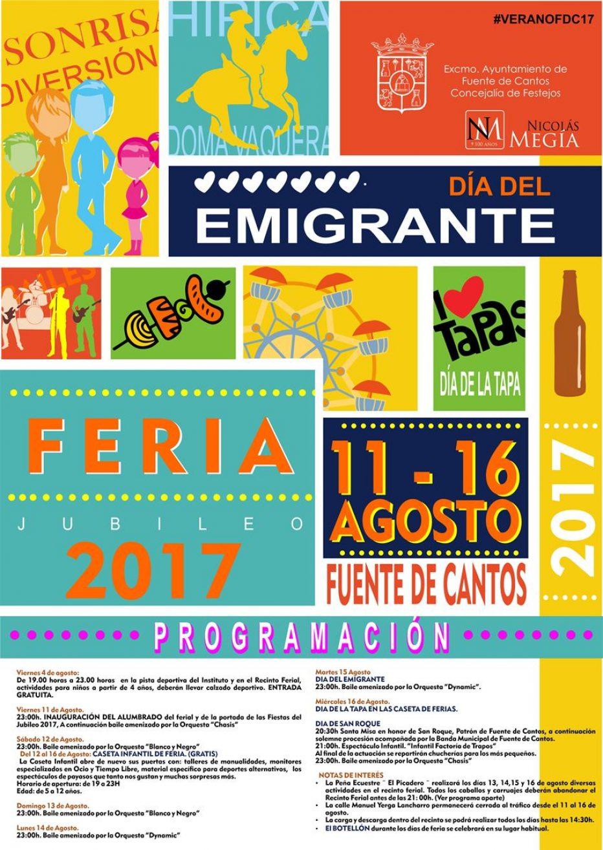 Programación de Feria. Jubileo 2017
