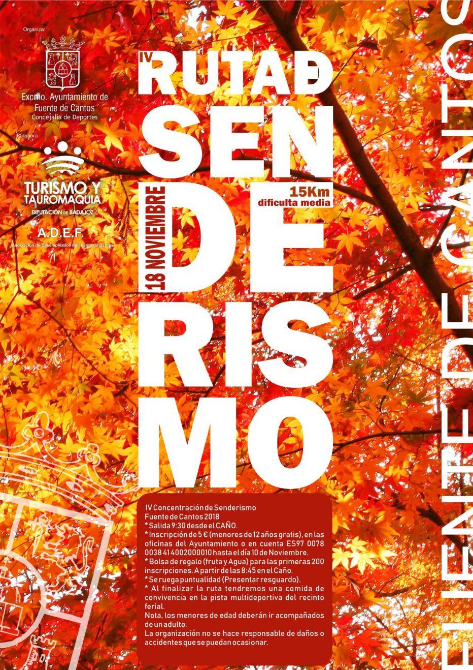 18N. IV Ruta de Senderismo 2018 – Fuente de Canto