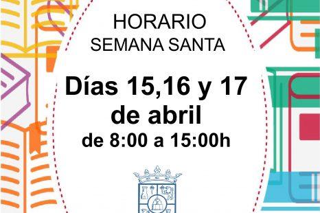 HORARIO DE BIBLIOTECA SEMANA SANTA