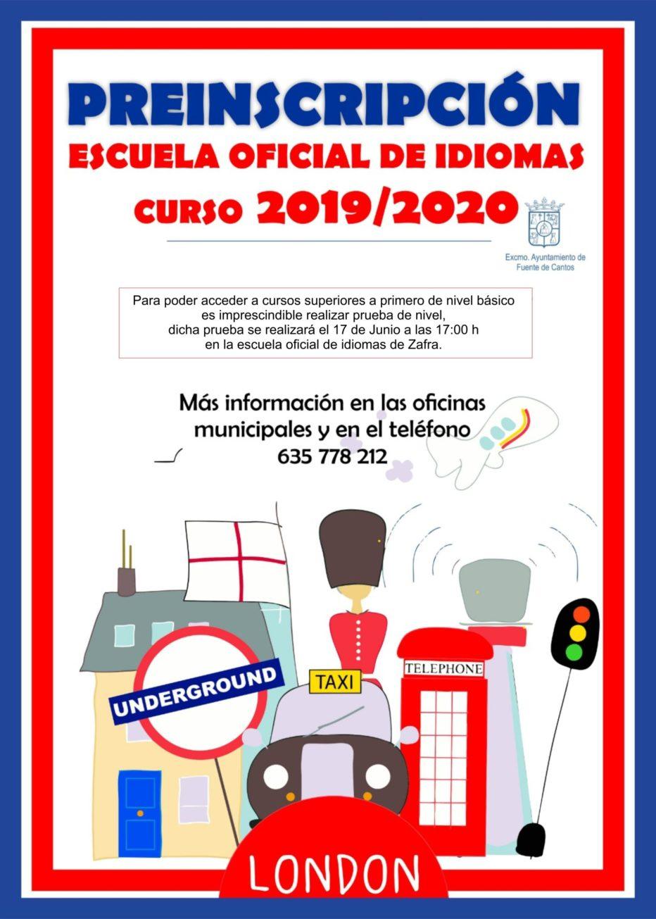 Preinscripción Escuela de Idiomas
