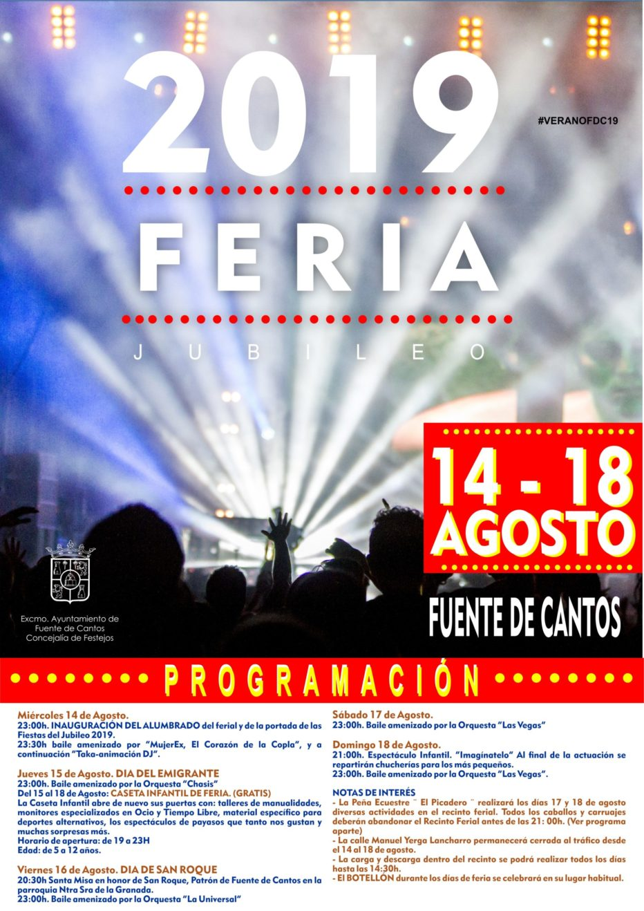 PROGRAMACIÓN FERIA DEL JUBILEO 2019