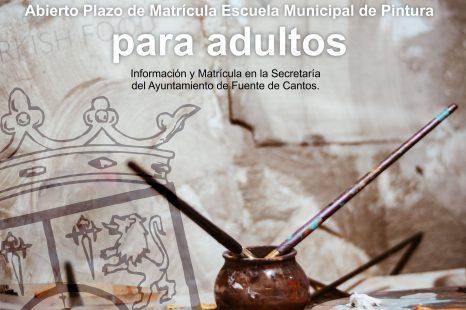 Escuela de Pintura ADULTOS. Matrícula.
