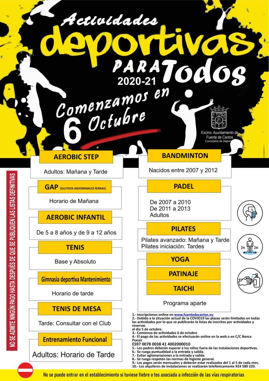 Actividades deportivas 2020-2021