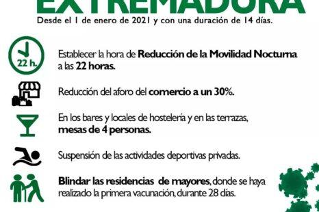 Nuevas medidas especiales Extremadura