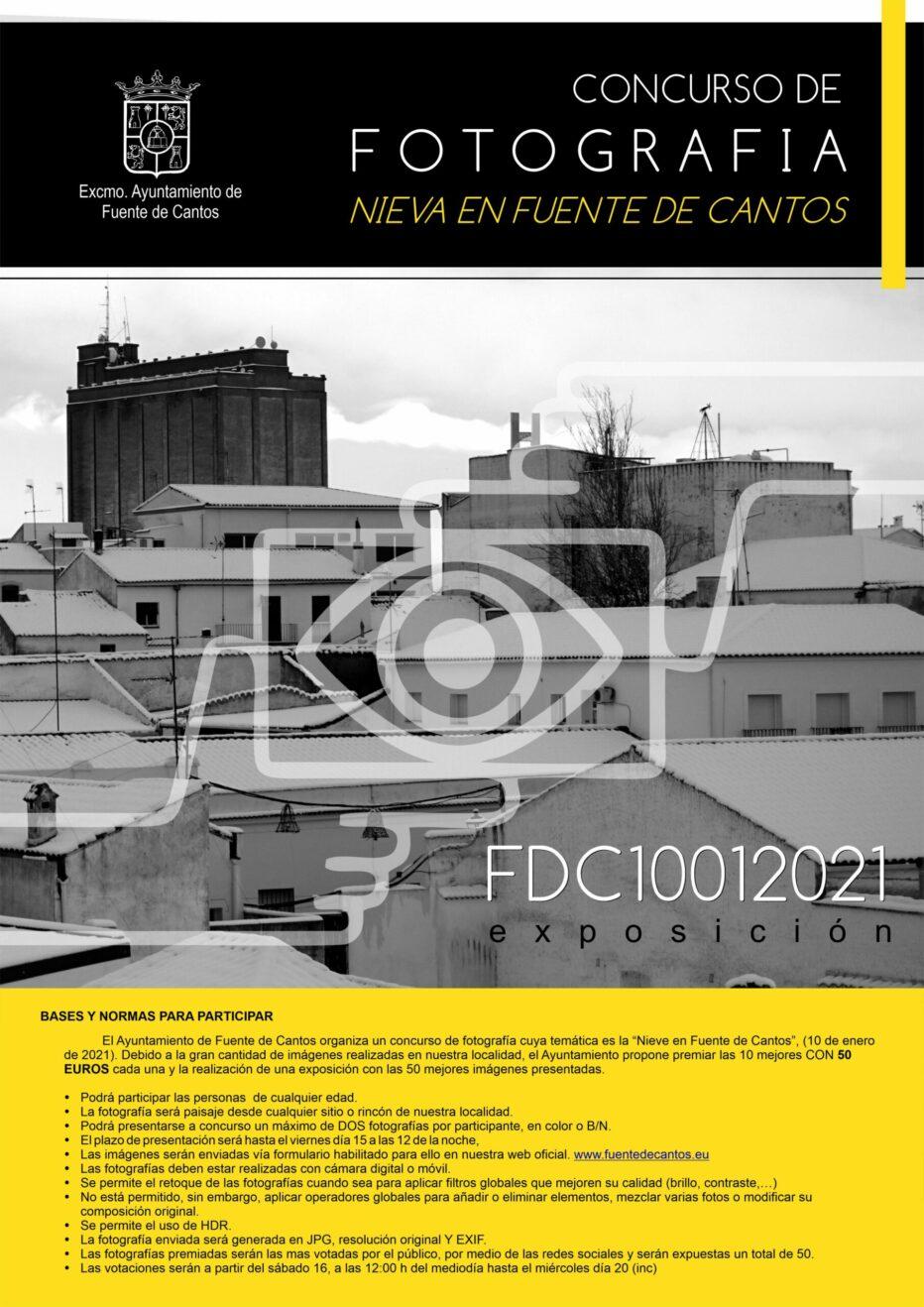 """Concurso de Fotografía """"Nieve en Fuente de Cantos"""""""