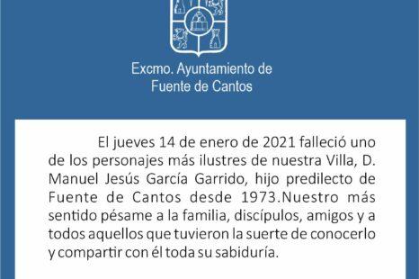 MANUEL JESÚS GARCÍA GARRIDO, IN MEMORIAM