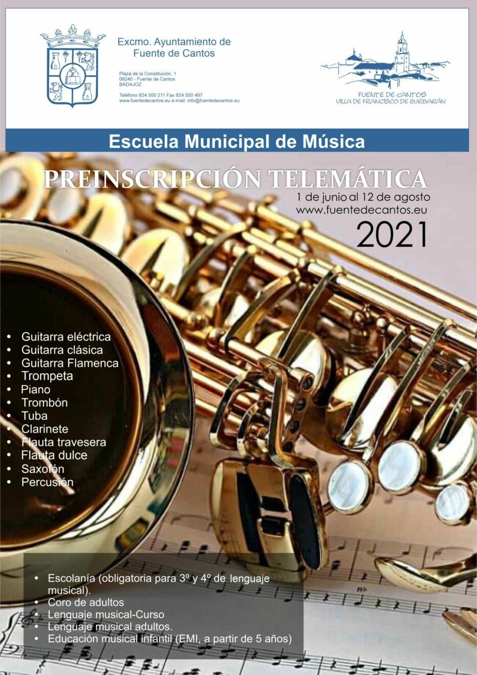 Preinscripción Escuela Municipal de Música